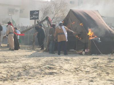 حرق خيم معسر الامام الحسين