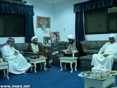 سماحة الشيخ المهدي والشيخ سعيد الحرز والأستاد بدر الشبيب